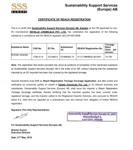 certificate of reach registration