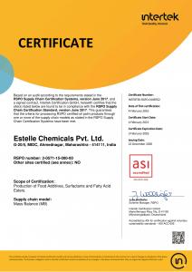 RSPO Certificate Estelle 2020-1